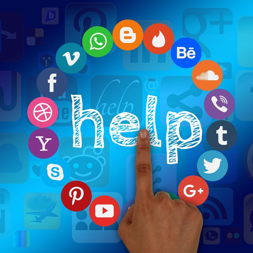 roue des réseaux sociaux